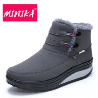 MINIKA New Arrival 2017 Women Boots Plush Insole Women Ankle Boots Brand Women Winter Boots Warmful