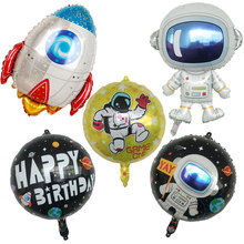 Balloons Decorations Astronaut-Foil Outer-Space Happy-Birthday-Party Baby-Boy Kids Super-Hero