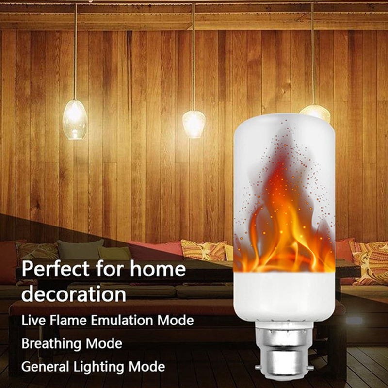 E27 E14 B22 LED Flame Effect Fire Light Bulbs 2835 Creative Lights Flickering Emulation Vintage Atmosphere Decorative Lamp
