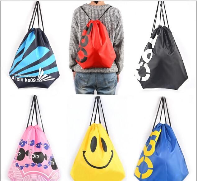 Manufacturers wholesale custom beach font b bag b font shoulders font b drawstring b font clothing