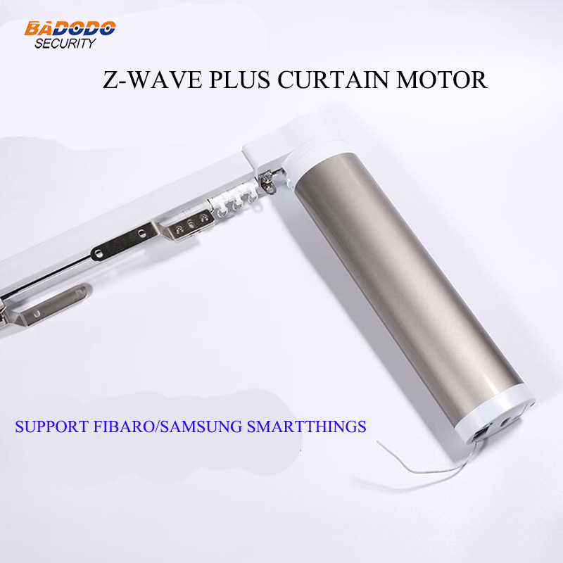 Z Wave plus Automatic Electric Curtain Motor opener operator with 4 meters track Compatible with fibaro