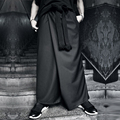 HOT 2017 new men clothing Harem pants fashion loose culottes low-rise pants big crotch pants wear skirt  nightclub trousers