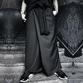 HOT 2017 novos homens de roupas Harem Pants calças moda culottes soltas calças grandes virilha low-rise calças desgaste saia boate calças