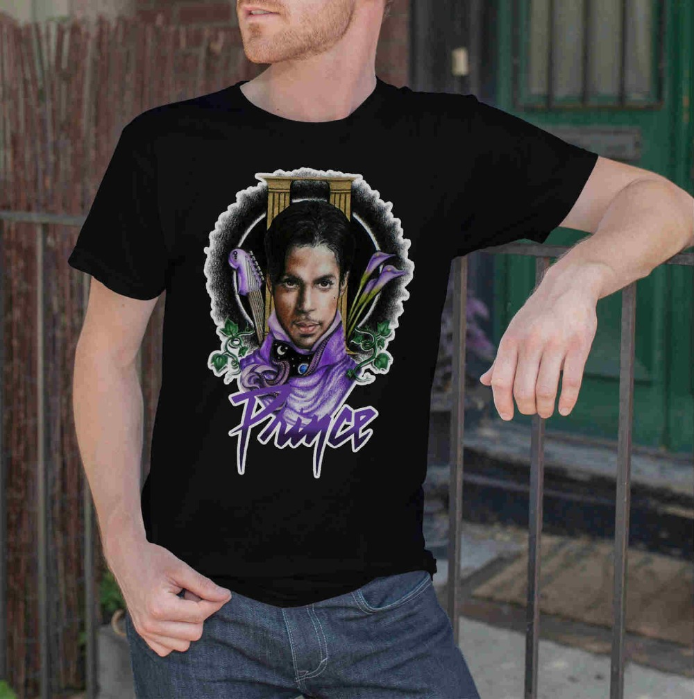 Hipster Tees Crew Neck Short Sleeve Christmas Mens Prince Legend R.I.P Size S-4Xl Shirt