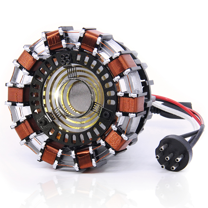 Cosplay Prop Finished Assemble 1:1 Iron Man Arc Reactor Glowing Iron Man Heart Model with LED Light Action Figure Gift
