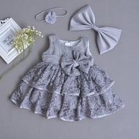 Baby Embroidered Christening Dress Toddler Princess White Baby Dress Baptism Vestido Infantil Dresses Girls Clothes 2018 Autumn