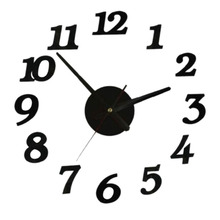 New Clock Watch Wall Clocks Horloge 3d Diy Acrylic Mirror Stickers Home Decoration Living Room Quartz Needle