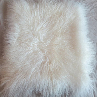 Free Shipping 2015 Two Sided Mongolian Lamb Natural White Fur Lumbar Pillow Made In China Tibet