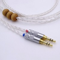 5ft 1.5m Hi end 8 Cores 5n Pcocc Silver plated Headphone Upgrade Cable for Denon AH D600 D7100