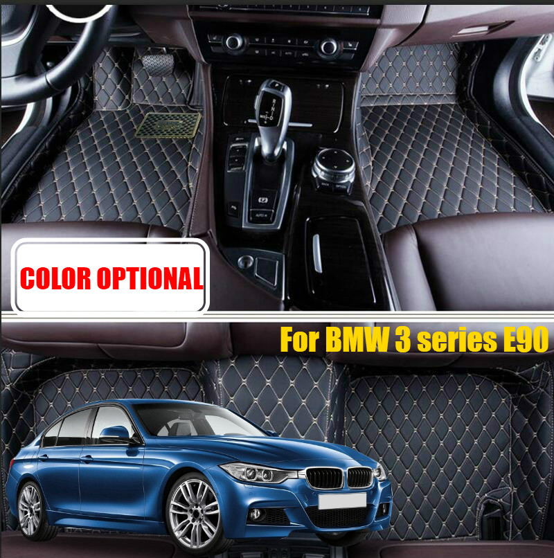 Car floor mats carpet For BMW 1 series F20 2011-2016/ 3 series E90 2010-2012 / 3 series F30 2013-2016 accessories car styling цена