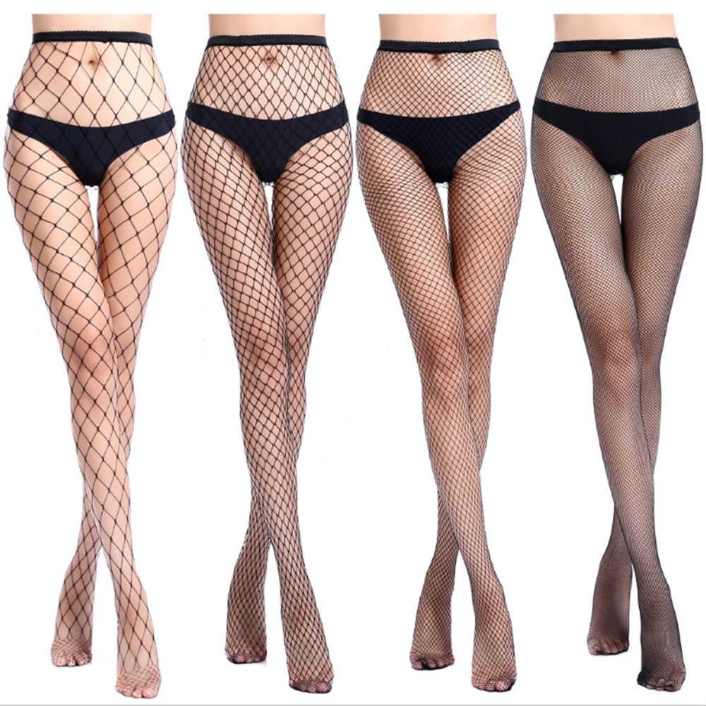Transparent 4 Sizes Of Mesh Pants Tighten High Projectile Erotic Open Crotch Pantyhose Tights Fishnet Stockings Sexy Lingerie