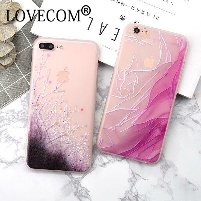 Lovecom más nuevo estilo flores silvestres de color rosa de seda suave del teléf