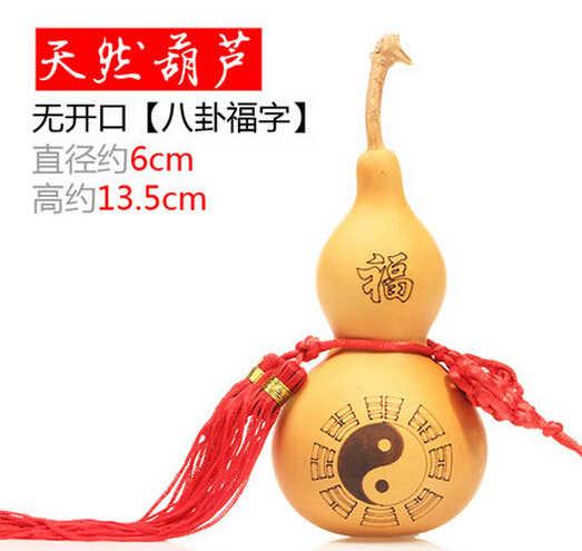 717 + + + + דלעת טבעית גילוף SUIRONG שש מילות רכילות פנג שואי מזל גודל תליון דלעת עץ קישוטי מלאכות