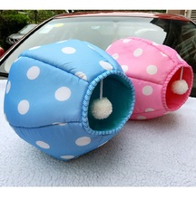 Lovely Dog Bed Sleeping Bag Cat Bed Cat House With Funny Ball Dog House Soft Pet Ped House Cushion Pet Doggie Bed