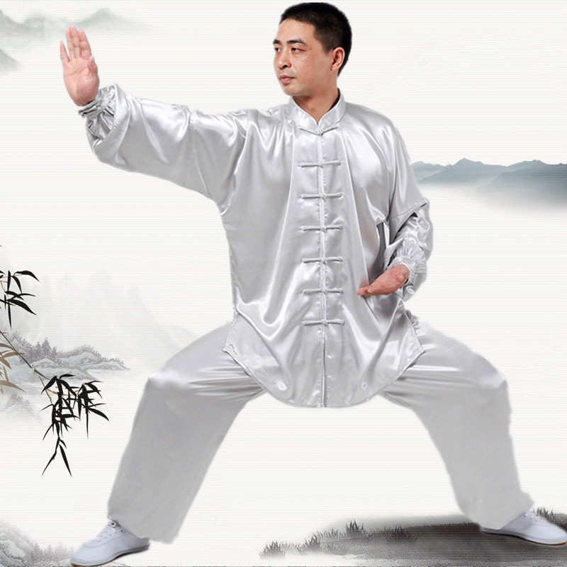 цена New Chinese Kung Fu uniforms Long sleeve Tai Chi clothing South Korea Martial Arts Costume wushu Performance Suit 7Colors онлайн в 2017 году