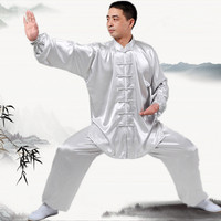 New Chinese Kung Fu uniforms Long sleeve Tai Chi clothing South Korea Martial Arts Costume wushu Performance Suit 7Colors