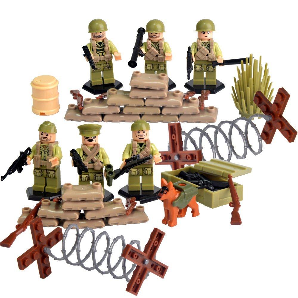 World War II Series Mini Action Figures US Army Blocks with Battlefield Accessories legoing Set Xmas Birthday Toys for Kids uncanny avengers unity volume 3 civil war ii