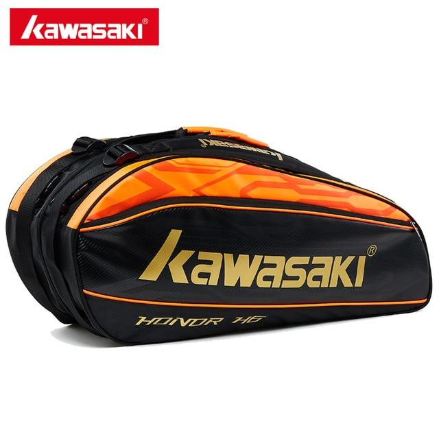 Kawasaki Professional Badminton Bag With Additional Shoes Bag Double Layers Tennis Racket Bags For Men Women KBB-8651
