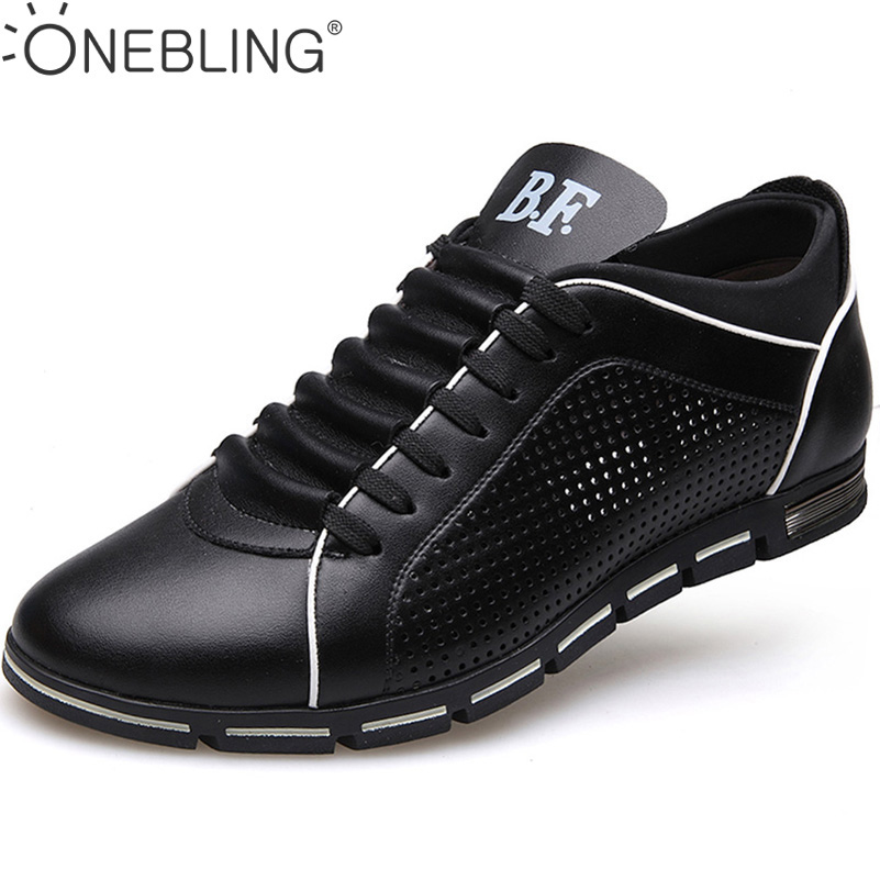 New Arrival 2017 Fashion Summer Style Men s Business Casual Shoes PU Splicing Oxfords Breathable Hollow
