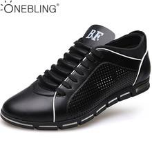 Nueva Llegada 2017 de Moda de Verano de Estilo de Los Hombres de Negocios Oxfords Casual Shoes PU Empalme Hueco Transpirable Para Hombre Zapatos Planos de Las Sandalias