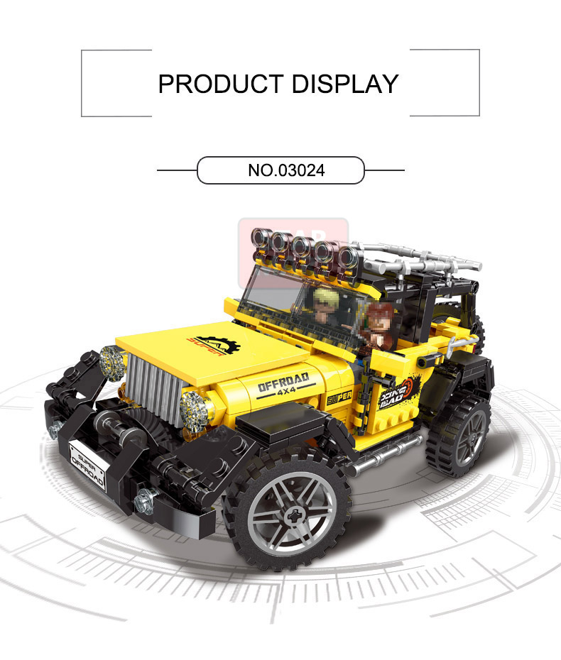 Lepin XingBao 03024 Technic Car The Offroad Adventure Set Building Blocks Bricks Toys For Children Educational Funny Kids gifts