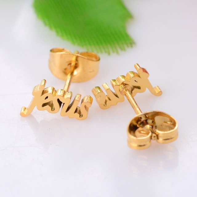 Religious Jesus Stainless Steel Stud Earring Gold Vintage Gift Jewelry for Men and Women Waterproof St033.jpg 640x640 - Religious Jesus Stainless Steel Stud Earring Gold Vintage Gift Jewelry for Men and Women Waterproof St033