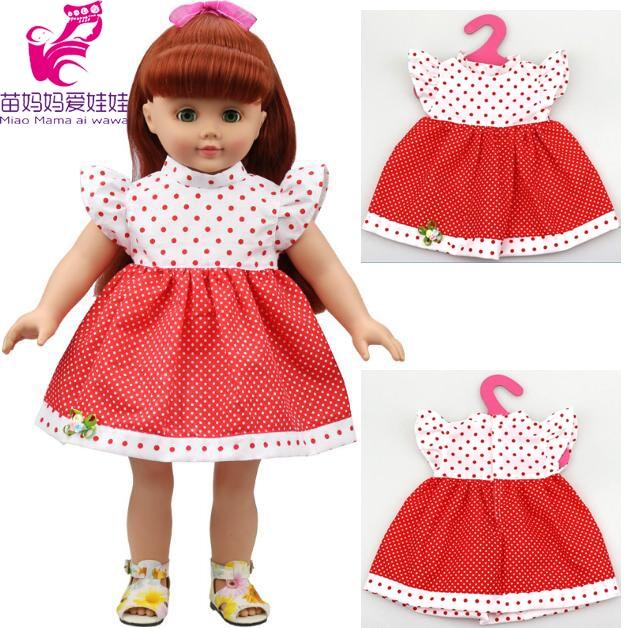 ᐂ1 piezas American Girl Doll ropa y muñeca punto rojo RESS para 18 ...