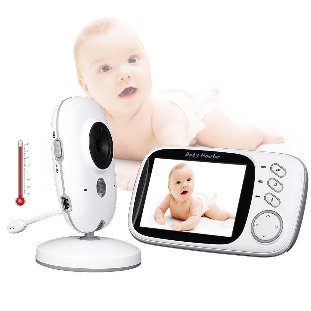 Video Monitor de bebé VB603 2,4g inalámbrico de 3,2 pulgadas LCD 2 Audio hablar visión en noche y con Video niñera bebé monitor de sueño