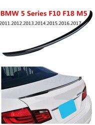 Spojler z włókna węglowego dla BMW serii 5 F10 F18 2011-2017 wysokiej jakości tylne skrzydło spoilery