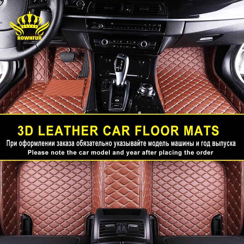 Custom Leather Car Floor Mats For BMW X5 X4 X3 X1 E90 F30 F11 Renault Skoda Nissan Qashqai Mitsubishi Volkswagen Golf Infiniti graceful round collar sleeveless floral print chiffon midi dress for women