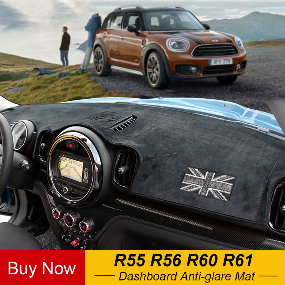 Car Dashboard Anti-glare Mats Carpet Cover Center Console Protection For Mini Cooper One Jcw R55 R56 R60 Countryman R61 Paceman