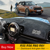 Car Dashboard Anti glare Mats Carpet Cover Center Console Protection For Mini Cooper One Jcw R55 R56 R60 Countryman R61 Paceman