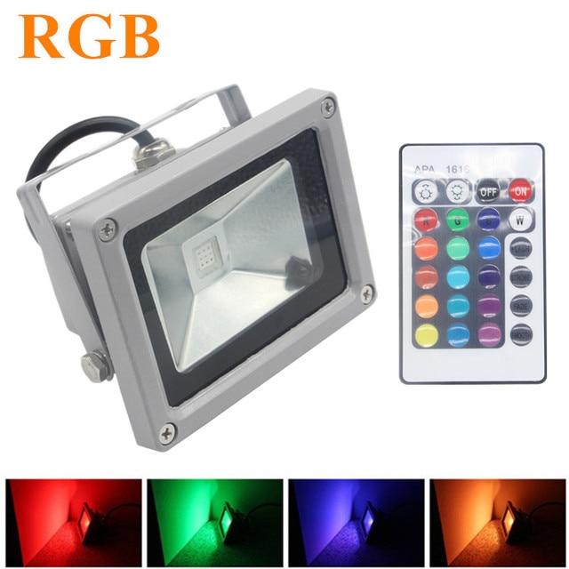 Rgb Led Flood Light 10w 20w 30w 50w Foco Exterior Spotlight Ip65 Outdoor Reflector Spot Floodlight Remote Control