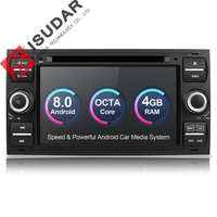 Isudar Car Multimedia Player GPS Android 8.0 2 Din For Ford/Mondeo/Focus/Transit/C MAX Car Radio Bluetooth DVR Autoradio DSP