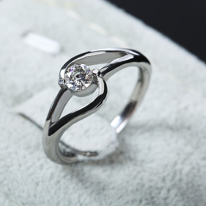 Fahion ring designs, stainless steel with zircon, handmade wedding ...