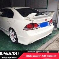 For HONDA Civic Spoiler 2006 2011 FD2 High Quality ABS Material Car Rear Wing Primer Color Rear Spoiler