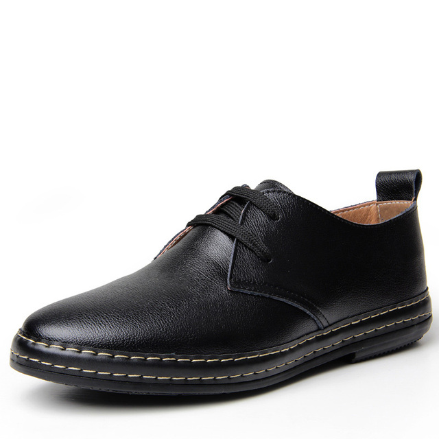 Men Fashion Casual Shoes Mens Formale Dress Luxury Genuine Leather Black Wedding Male Party