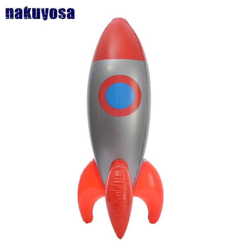 New Inflatable Toys Inflate Red Rocket Model Toys Children Birthday Party Decoration Toys Astronaut Space Spaceship 103*28 CM