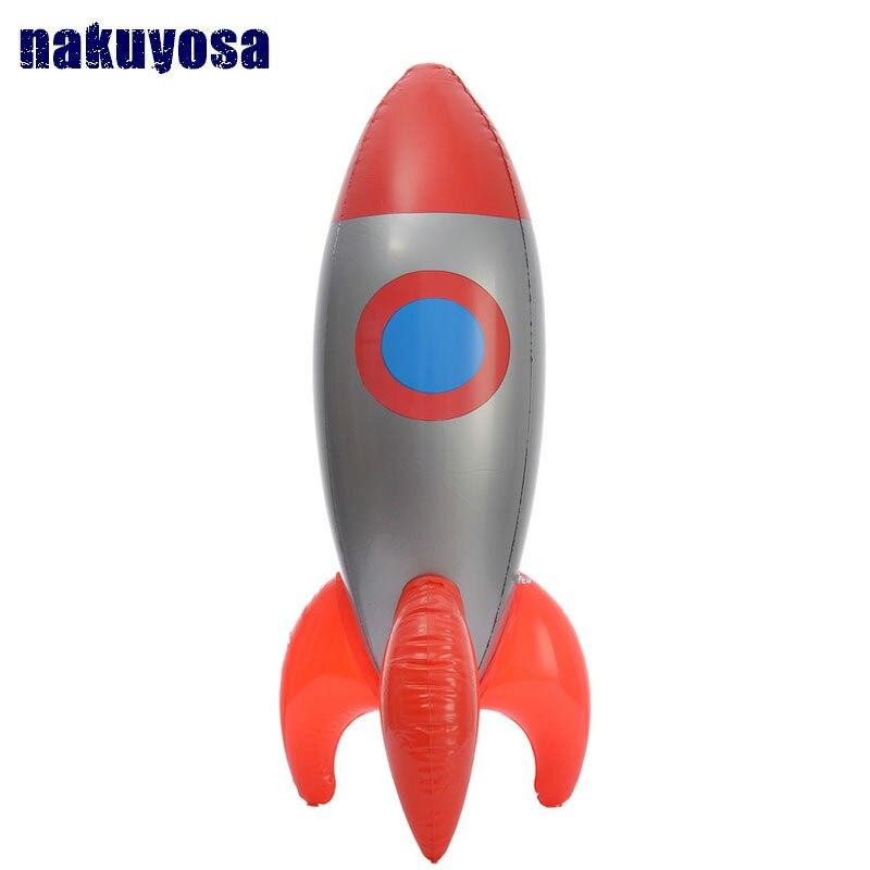Nouvelle jouets gonflables Gonfler Rouge Fusée Modèle Jouets Enfants Anniversaire décoration de fête Jouets Astronaute Espace Vaisseau Spatial 103*28 CM