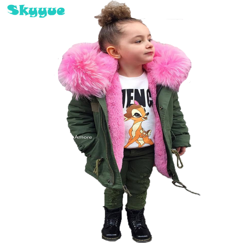 Girls winter coats 2018 toddler girl winter clothes removable hooded fur collar coat kids thick winter jackets baby girl parka недорого