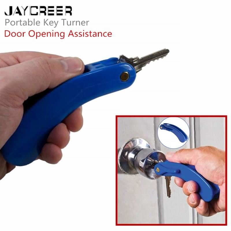 Jaycreer Schlüssel Turner Loch-in-one Hält 3 Tasten Faltbare Secure Key Holding & Drehen Gerät Für Arthrose Unterstützung Neueste Mode