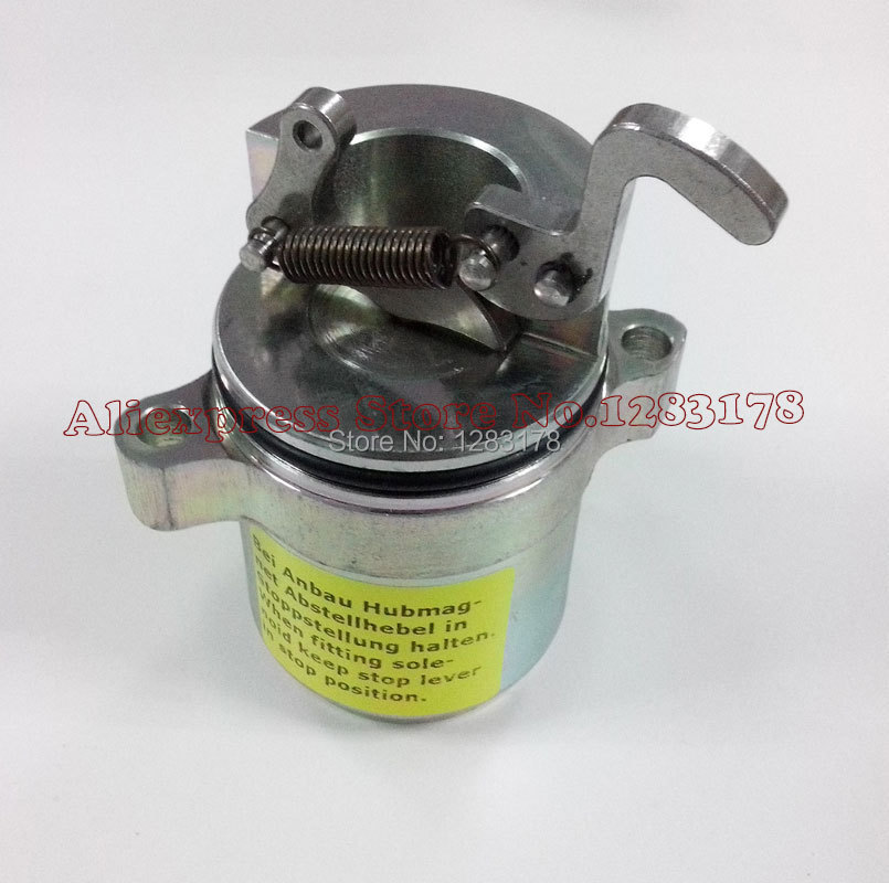 DEUTZ BF4M1011F Fuel shut off solenoid 04170534R Bobcat skid steer loader 863/864/873/874/S250/T200/A300 new turbo for deutz bf4m1011f turbocharger with gasket bobcat 863