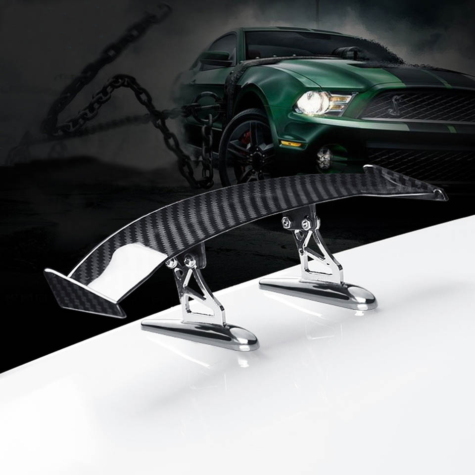 Car Styling Spoiler Universal Car Tail Rear Wing Carbon Fiber Styling Decoration Cheap Spoiler Mini Small Model Auto Stickers car styling carbon fiber auto rear wing spoiler lip for vw scirocco 2010 2012