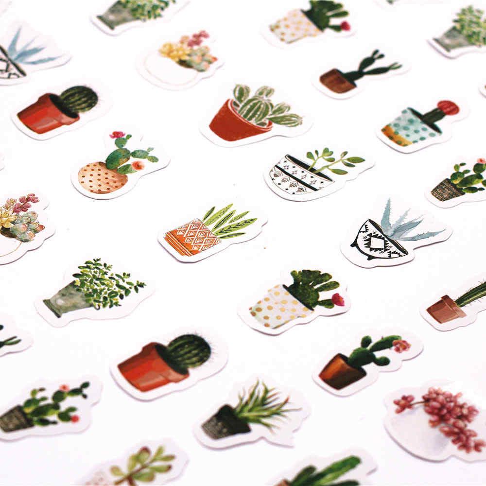 45 teile/paket Kawaii Schreibwaren Aufkleber nette Kaktus muster scrapbooking tagebuch planer Geschrieben Es Schule Liefert
