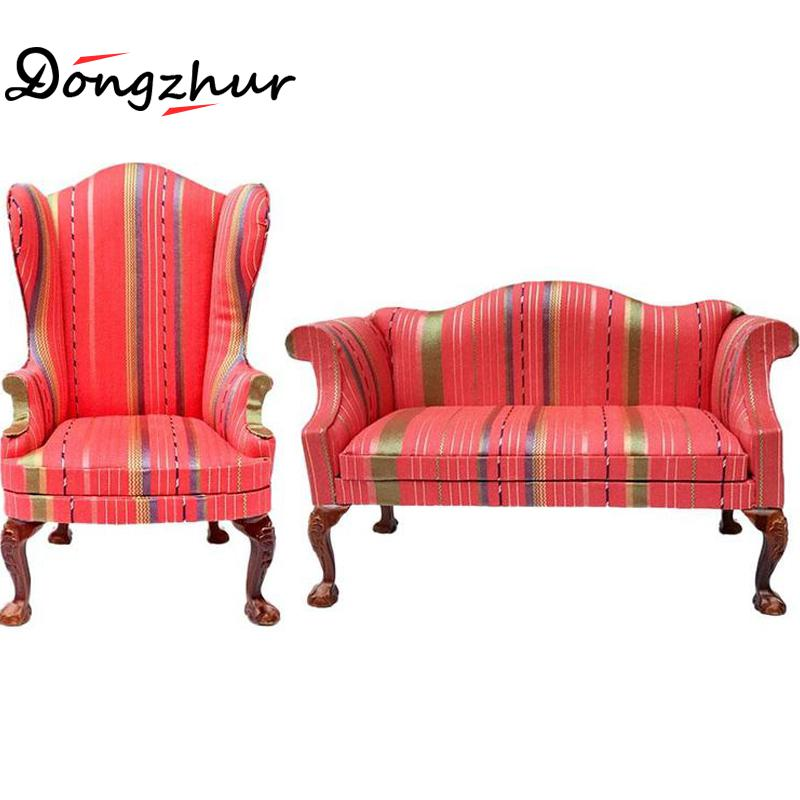 High Quality Model Toys Single Sofa Or Two Seat Orange Red For 1 6 Doll House Accessories Children New Wwp0075 In Houses From Hobbies