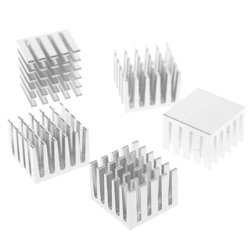8Pcs Memory Chip IC Aluminum adhesive Black Heat Sink 20x20x6mm NEW