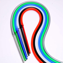 1.7M Synthetic Leather Hookah Hose Wood Mouth Tip Shisha Pip