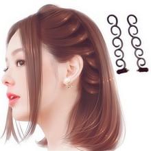 Hot Sale 1 Set Hair Magic Twist Centipede Styling Braid Clip Stick Bun Maker DIY hairstyle tool Girls Beauty Accessories