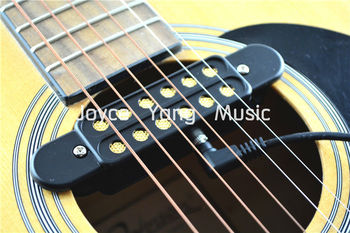 QH KQ-33 Acoustic Guitar Pickup Wire Amplifier Can Separtate Pickup And Cable Pickups Free Shipping free shipping new electric guitar open pickup in black te 8378