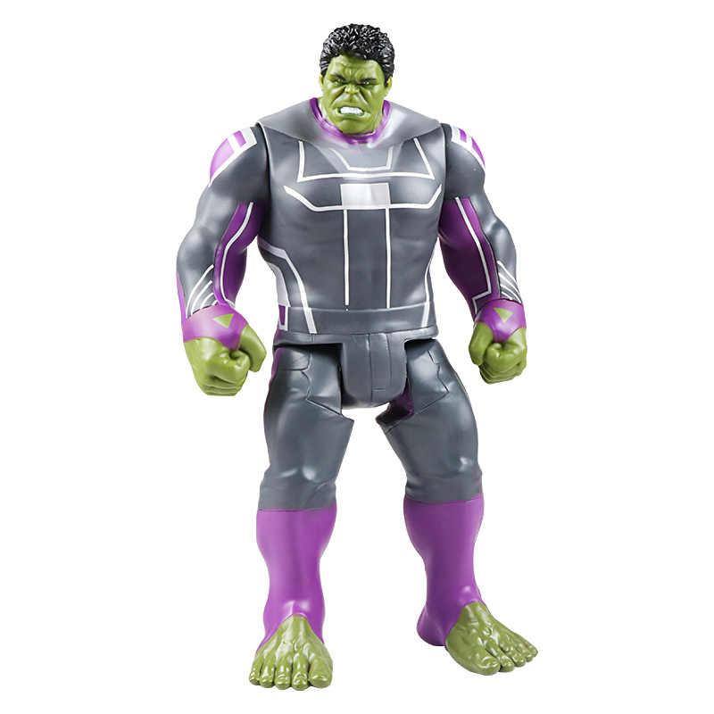 30 см Marvel Мстители игрушки танос Халк Бастер Человек-паук Железный человек Капитан Америка Тор Росомаха Черная пантера фигурки кукол